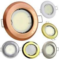 6x LED Einbaustrahler Set GU10 230V 1-9 Watt rund eckig Einbauspot 70-75mm