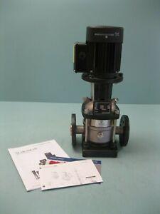"""1"""" Grundfos CRN1-4 Centrifugal Pump DIN/ANSI/JIS 1/2 HP Motor NEW P3 (2672)"""