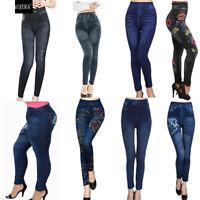 New Lady Summer Denim Legging M-2X Skinny Gym Running Solid Pants Athletic Hot