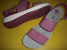 Clarks Arla Jacoby CloudSteppers Stretch-Strap Sport Sandals Women's 9.5 W Pink