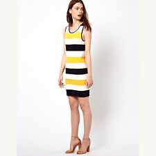 MILLY | Sleeveless Striped Sweater Dress – Size S