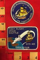 NASA PATCH ~ STS-49 SPACE SHUTTLE ENDEAVOUR FIRST FLIGHT MAIDEN 2 DIFF. PATCHES