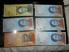 6 pieces DIFFERENTS VENEZUELA      Currency  100 BOLIVARES  FANCY SERIALS