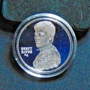 BRETT FAVRE GREEN BAY PACKERS 999 SILVER COIN ENVIROMINT CHOSEN FEW ROUND 1/1150