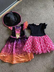 Girls Fancy Dress Bundle, Estimated Age 7-8 Witch And Mini Tutu