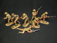 """7 Airfix figures WW2 """"British 8th Army""""1:32,Hand painted Tabletop High standard"""