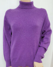 PURPLE POLO NECK JUMPER BY JOHNSTONS KNITWEAR SCOTLAND  SIZE 40 INCH CHEST BUST