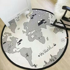 New Home World Map Pattern Baby Crawling Mat Game Play Mats Big Carpet Pads