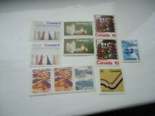 Eleven Mint Canadian Stamps