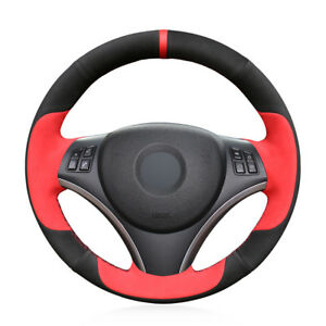 Custom Hand-Stitch Top Leather Car Steering Wheel Cover For BMW E90 325i 330i