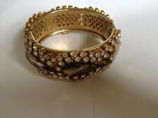 Styled Bracelet With Safety Fastener Vintage Dryberg & Kern Jewelled Cuff