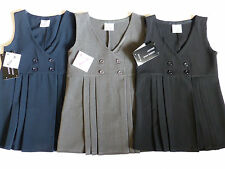SCHOOL GIRLS UNIFORM PINAFORE DRESS IN BLACK/NAVY/GREY 2-7Yrs