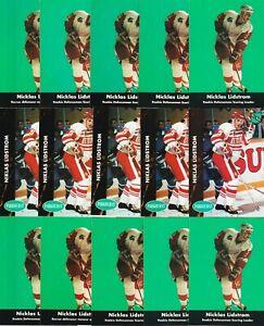 NICKLAS LIDSTROM RC 27 CARD LOT 1991-92 PARKHURST HOCKEY #37 ROOKIE LEADERS #445