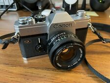 Mint Canon Ftb Ql 35mm Slr Film Camera with Canon 50mm F/1.8 lens