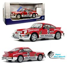 Solido 1:18 - 1979 Porsche 911 SC GR4 - Rally D'Armor #3 (Red) - Diecast Model