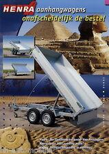 Prospekt Henra Kipper Anhänger 2002 brochure tipper trailer benne broschyr