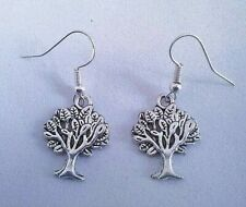 Hand Crafted 'Tree of Life' Stylish 925 Sterling Silver Earring Hooks -Wiccan