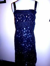 MAURIE & EVE  DRESS size S 8 10 designer Black & silver as new summer evening