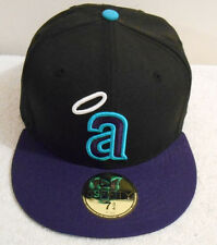 New Era Los Angeles Angels Black Purple Teal 59Fifty Fitted Hat Cap 7 3/4 – New
