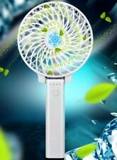Portable Fan 3 speed Hand-held / Desk Rechargeable with torch light .