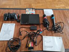 Sony PlayStation 2 + Sing Star, 2 Mikrofone [Rot/Blau] , Kamera