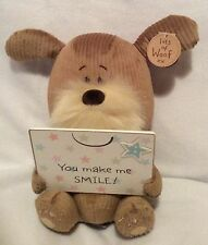 "Lots Of Woof - 9"" Dog Plush - You Make Me Smile - Brand New"