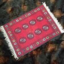"20.5""x27.5"" Vtg Wool Royal Bokhara Hand Knotted Oriental 2x2 Rug Door Mat Entry"