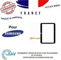ECRAN VITRE TACTILE  SAMSUNG GALAXY TAB 3 10.1 P5200 P5210 NOIR ADHÉSIF