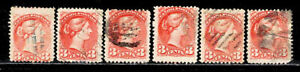 Canada Early Used Stamp Lot Scott #37 F/VF ALL APPEAR TO BE SOUND    <A559>