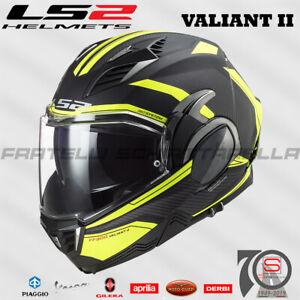 Casco Helmet Modulare Apribile LS2 FF900 Valiant II Revo Matt Black H-V Yellow