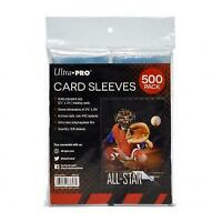"ULTRA PRO CARD SLEEVES (500 Pack) STANDARD SIZE 2 1/2"" x 3 1/2""  *FREE SHIPPING*"