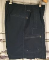 Columbia  Blue Shorts Omni-Shade Fishing Boating Mens Pockets Sz X -Large Belted