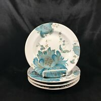 "Set of 4 222 FIFTH PTS International ELIZA TEAL 6-1/2"" Bread Plates"