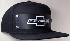 Hat Cap Front Nylon Strap Chevrolet Chevy Bowtie Black CHAX