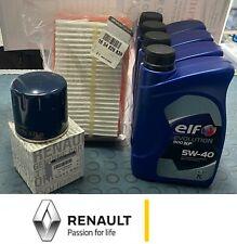 KIT TAGLIANDO SMART 453 E RENAULT TWINGO 1.0 Benzina Dal 2014  4 LITRI ELF 5W40