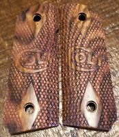 Compact 1911 Rosewood Wood Grips - Colt
