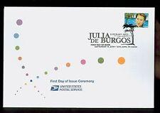 USA #4476 2010 44c Julia De Burgos Stamp First Day Ceremony Program