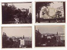 Nice Villa Pauline Lot de 4 Photos amateur Papier citrate ca 1900