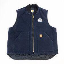 VTG Carhartt Men's Black Canvas Quilted Vest Size XL