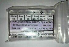 Set Crowns Tubes Gaskets Rolex Assortment Steel & Gold Plated Twinlock Daytona