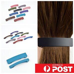 Matte Medium Metal Flat Hair Clasp Clip Hairclip Pin Barette Womens Colourful