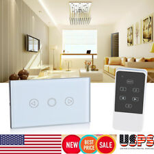 LED Light Smart Touch Screen Wall Switch Wireless RF Remote Control Glass Panel