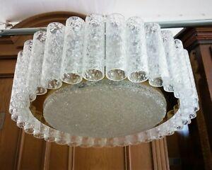 Doria Leuchten Kristallglas-Lampe - Murano Glas, Eis Glas Leuchter