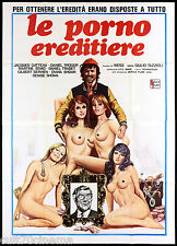 LE PORNO EREDITIERE MANIFESTO CINEMA FILM EROTICO SEXY NUDE 1979 MOVIE POSTER 4F