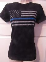 women thin blue line t shirt next level super soft New Ladies cut police