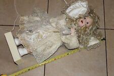 Gabrielle 1993 vintage christmas motorized porcelain face / hands doll-works