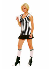 3 Piece Referee Dress Whistle and Knee Hi's Small Adult Woman Theater