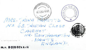 1963 Tristan da Cunha RESETTLEMENT SURVEY cover to England
