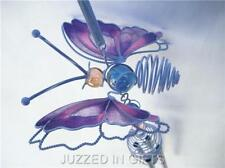 BUTTERFLY WINDCHIME SUNCATCHER W/GLASS BALLS PINK WIND CHIME NEW