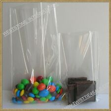 "100 4"" x 6"" 1.5mil crystal clear flat top open poly bag for lollipop candy"